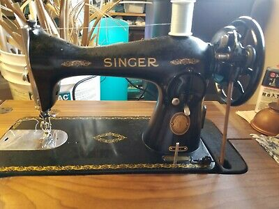 Singer 15-88 Vintage Treadle Sewing Machine Head With Attachments
