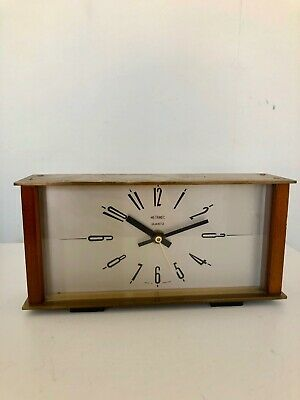 Vintage Retro METAMEC Quartz Mantle Clock Made in England