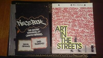 """2x books """"Piecebook"""" and """"Art in the Streets"""" ISBN 9783791338965  9780847836482"""