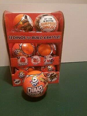 (LOT OF 12) Zuru 5 Surprise! Dino Strike Blind Mystery Ball Dinosaur! FULL CASE!