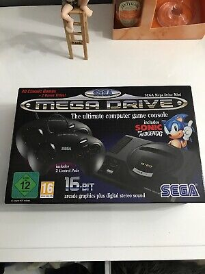 Official SEGA Mega Drive Mini Console (inc 42 Games) Retro New and Sealed