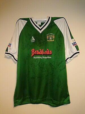 Yeovil Town Match Worn Shirt - 2002/2003 - Squad Signed - Free Postage