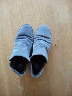 Fly London-Grey Suede Wedge Ankle Boots Size 6-Really Good Condition