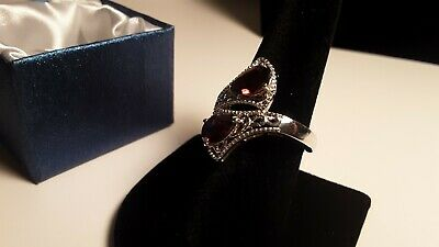 Mozambique Garnet Ring in Platinum Over Sterling Silver (Size 10.0) 3.00 ctw