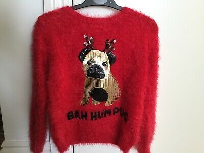 girls jumper, primark, age 8-9 Red, great condition.