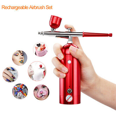 Portable Airbrush Kit with Compressor Small Spray Pump Pen for Makeup Tattoo Car