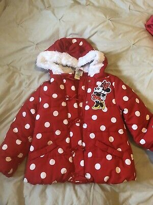 Girls Disney Minnie Mouse Coat Age 5-6 Years