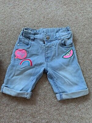 Girls Cropped Jeans Age 2/3