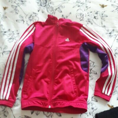 Girls Pink Adidas Track Top 9-10years