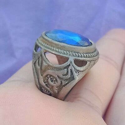 Ancient Rare Silver Ring Spades Vintage Antique ROMAN Legionary Artifact