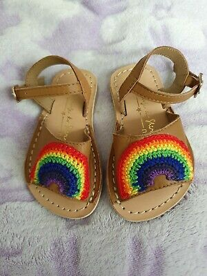 Baby Girl rainbow Real Leather Sandals Size 4 Infant from Next
