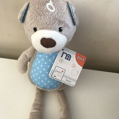 ~ Grey Soft Teddy Comforter Hug Toy ~ BNWT Winter Mothercare ~ Blake the Bear