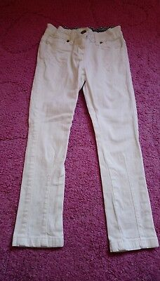 M&S girls white skinney jeans age 6 years VGC indigo collection
