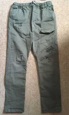 Green Cargo Style Trousers Size 10 Years From NEXT