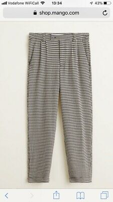 KALEIDOSCOPE NWOT Womens Tailored Elasticated Houndstooth Check Trousers Size 18