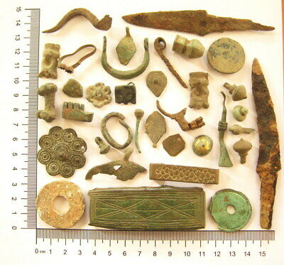 Ancient Roman Celtic Byzantine Bronze Copper Iron Lead Artifacts