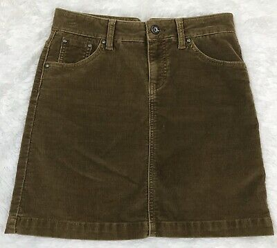 Gap Jeans Womens Light Brown Corduroy Stretch Mini Skirt Size 1