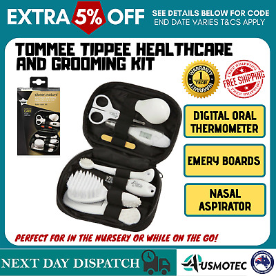 Tommee Tippee Baby Care Kit Comb Toothbrush Thermometer Nail Clippers & More