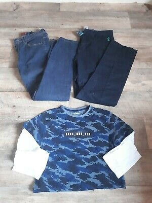 Boys 13/14 Yr Bundle, Jeans, Trousers, Long Skeeve Top, next, h&m, Primark