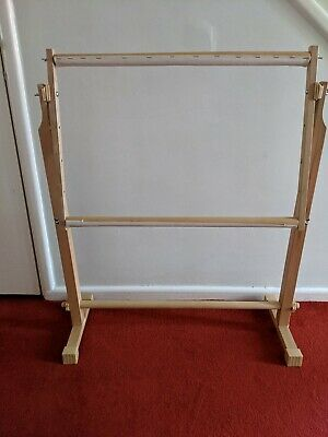 Adjustable wooden floor standing embroidery cross stitch frame