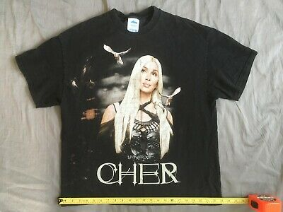 2003 Cher Living Proof farewell US tour T-shirt t shirt extra Large XL doves