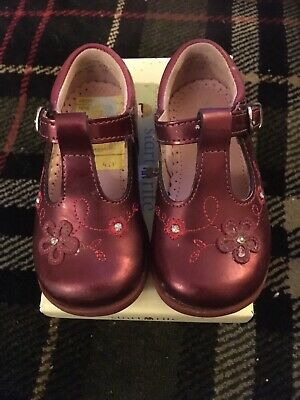 Berry Burgandy Wine T Bar Girls Shoes Start Rite Sz 4.5/21 F Used