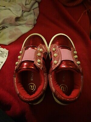 RIVER ISLAND GIRLS PINK TRAINERS UK SIZE c5 Toddlers