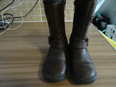 Girl Boots By Tu,Size Uk-11,Brown