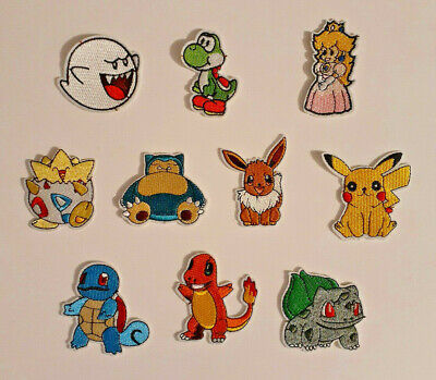 POKEMON & MARIO BROS - Quality Embroidered Patches - Iron/Sew - US SELLER Go NES