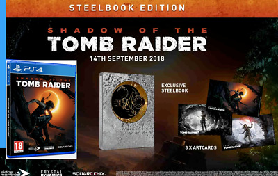 Shadow of the Tomb Raider Limited Steelbook Edition / 3 Art Cards PS4 Game UK