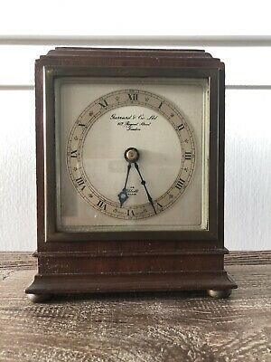 Garrard And Co Elliott Mantle Clock Mid 20th Century Antique Vintage London