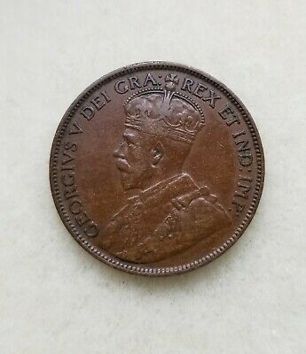 1917 ancient Canada Georgivs 5th one cent  Bronze coin