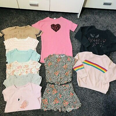 Next Girls Age 6-7 7 Yrs Clothing Bundle Spring Trendy Co Ord Dresz Tees Jumpers