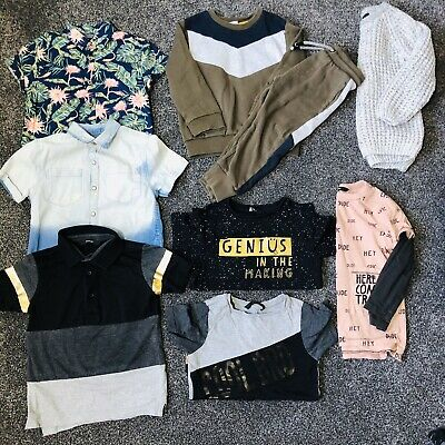 Boys trendy clothing bundle 3-4 years. Shirts tracksuit tops jumper tops polo