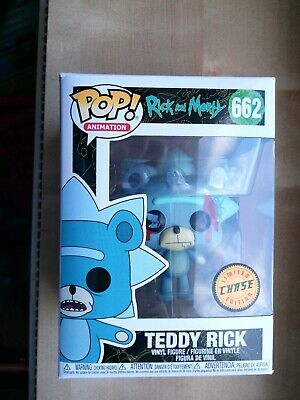 Funko Pop Vinyl Teddy Rick #662 Rick And Morty Limited Edition Chase New Rare