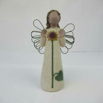 Willow Tree Ornament Angel of Summer Sunflower Wings 2001 Susan Lordi Figurine