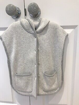 BNWT The Little White Company Girls Hooded Poncho 2-3 Years