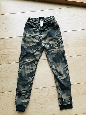 next boys camouflage Jogging Bottoms Trackpants 10 Years Green