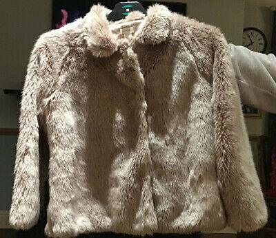 Monsoon Girls Faux Fur Jacket Age 11-12 Years Smart Wedding Party