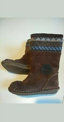 Girls Clarks Brown Boots Size 7f Infant