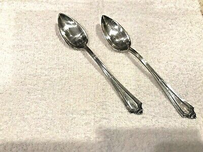 PLYMOUTH by Gorham, 1911 Sterling Silver Fruit Spoons - Set of 2 No Monograms