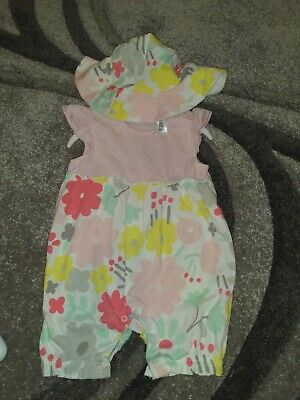 Baby Girls Summer Outfit Playsuit Romper BNWT Age 9-12months NUTMEG