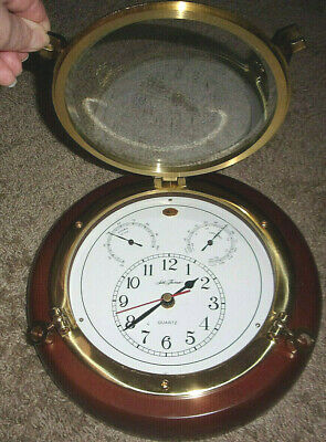 Seth Thomas - Meridian #1046 - Wall Clock With Hygro & Thermo Gages - Nautical