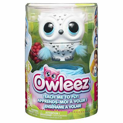 Owleez 6046148 Flying Baby Owl Interactive Toy With Lights And Sounds (White),