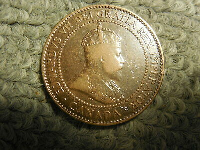 1909 Canadian Large Cent in F-VF condition. Nice! But you decide!!!!!!!