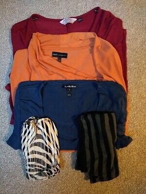 Size 12 maternity bundle: work tops and bump bands (Isabella Oliver, Next)