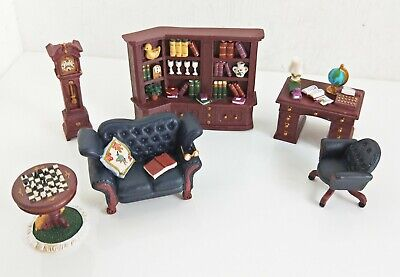 Avon Collectable Set: Victorian Miniature Furniture - The Library, NIB (8993)