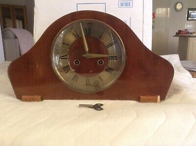 Unicorn Mantle Clock German Made Chimes Hourly And Half Hourly All Working