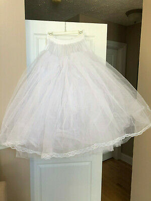 Crinoline Petticoat Wedding Dress Slip, WHITE, One Size Fits Most