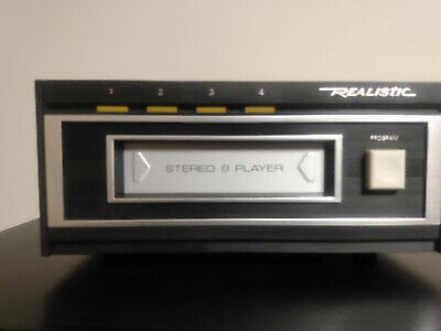 Realistic TR-169 8-Track Player with Box and Packaging